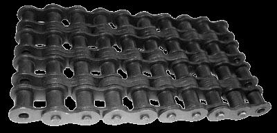 цепи приводные роликовые четырехрядные